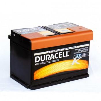 Duracell Extreme DE 70 AGM PRÉMIUM akkumulátor, 12V 70Ah 720A J+