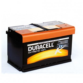 Duracell Extreme DE 80 AGM PRÉMIUM akkumulátor, 12V 80Ah 800A J+