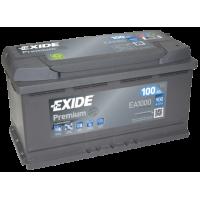 Exide Premium EA1000 100Ah 900A jobb+