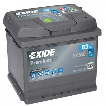 Exide Premium 53Ah 540A Jobb+ (EA530)