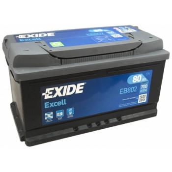 Exide Excell EB802 80Ah Jobb