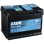 Exide Start Stop AGM 70Ah 760A Jobb+ EK700