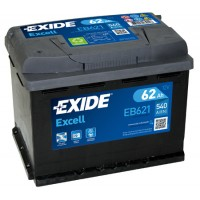 Exide Excell EB621 62Ah bal+