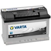 VARTA E9 Black Dynamic 70Ah 640A Jobb+ alacsony (5701440643122)